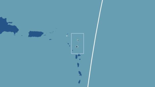 Antigua and Barbuda - 3D tube zoom (Kavrayskiy VII projection). Solids