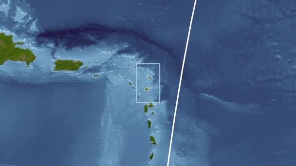 Antigua and Barbuda - 3D tube zoom (Kavrayskiy VII projection). Satellite