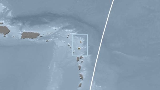 Antigua and Barbuda - 3D tube zoom (Mollweide projection). Bumps