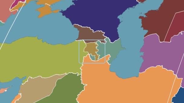 Armenia - 3D tube zoom (Kavrayskiy VII projection). Administrative