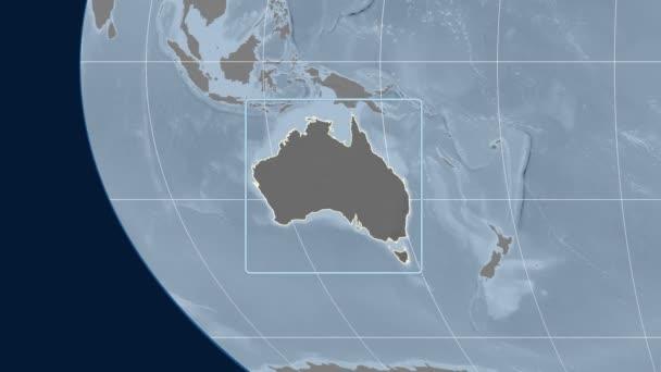Australia Map Zoom.Australia 3d Tube Zoom Kavrayskiy Vii Projection Bumps Stock