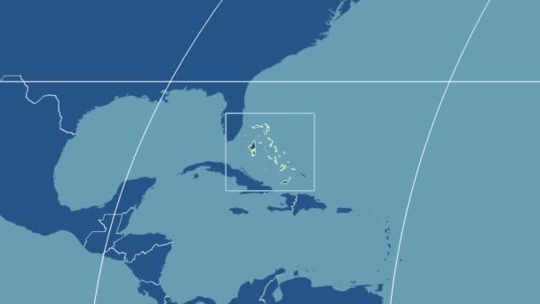 Bahamas - 3D tube zoom (Mollweide projection). Solids