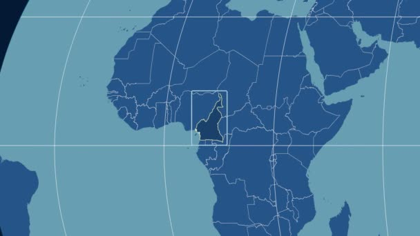 Cameroon - 3D tube zoom (Kavrayskiy VII projection). Solids