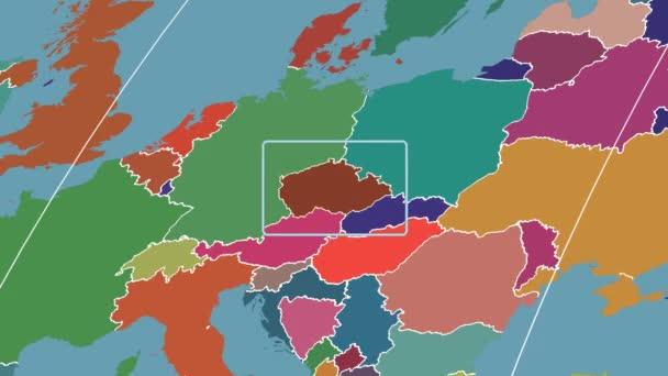 Česká republika - 3d trubice zoom (Kavrayskiy Vii projekce). Administrativní