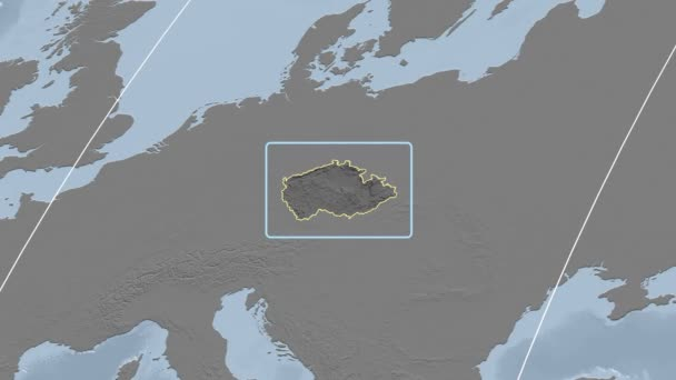 Česká republika - 3d trubice zoom (Kavrayskiy Vii projekce). Hrboly