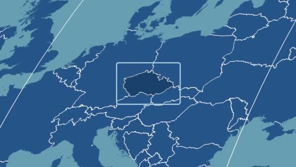 Česká republika - 3d trubice zoom (Kavrayskiy Vii projekce). Tuhé látky