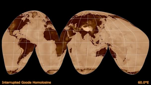 Animated world map in the Azimuthal Equidistant projection. Blue Marble  raster.