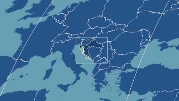 Croatia - 3D tube zoom (Kavrayskiy VII projection). Solids