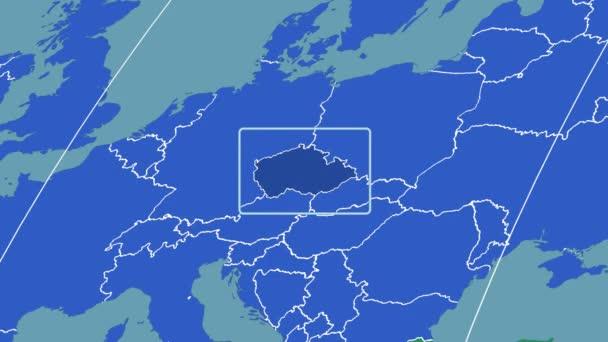 Czech Republic - 3D tube zoom (Kavrayskiy VII projection). Continents