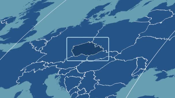 Czech Republic - 3D tube zoom (Mollweide projection). Solids