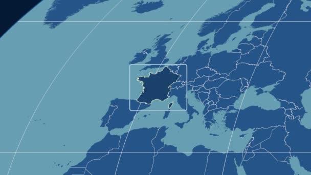 France - 3D tube zoom (Kavrayskiy VII projection). Solids