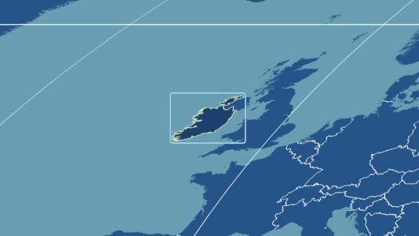 Ireland - 3D tube zoom (Mollweide projection). Solids