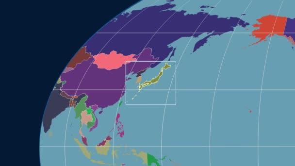Japonsko - 3d trubice zoom (Kavrayskiy Vii projekce). Administrativní
