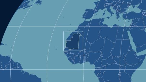 Mauritania - 3D tube zoom (Kavrayskiy VII projection). Solids