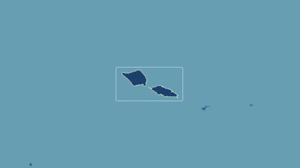 Samoa - 3D tube zoom (Kavrayskiy VII projection). Solids