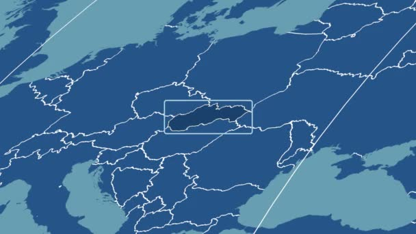 Slovakia - 3D tube zoom (Mollweide projection). Solids