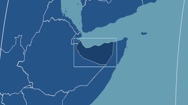 Somaliland - 3D tube zoom (Kavrayskiy VII projection). Solids