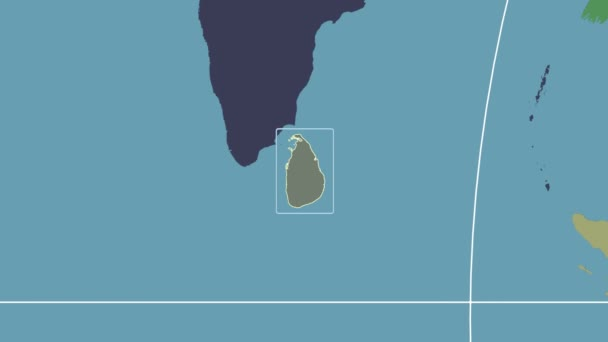 Sri Lanka - 3D tube zoom (Mollweide projection). Administrative