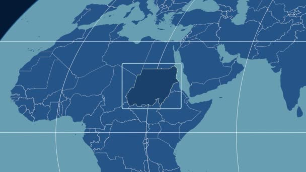 Sudan - 3D tube zoom (Mollweide projection). Solids