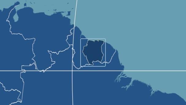 Suriname - 3D tube zoom (Kavrayskiy VII projection). Solids
