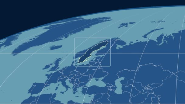 Sweden - 3D tube zoom (Mollweide projection). Solids