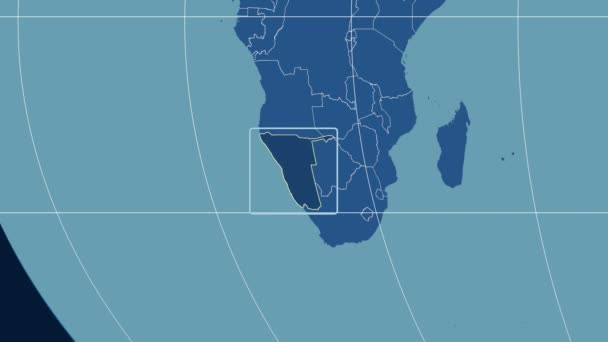 Namibia - 3D tube zoom (Kavrayskiy VII projection). Solids