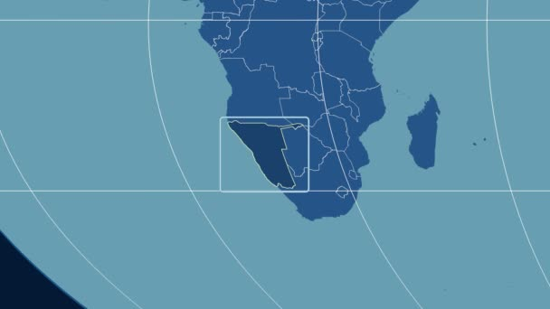 Namibia - 3D tube zoom (Mollweide projection). Solids