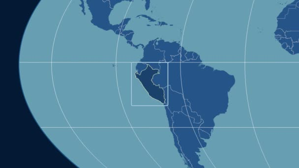 Peru - 3D tube zoom (Mollweide projection). Solids