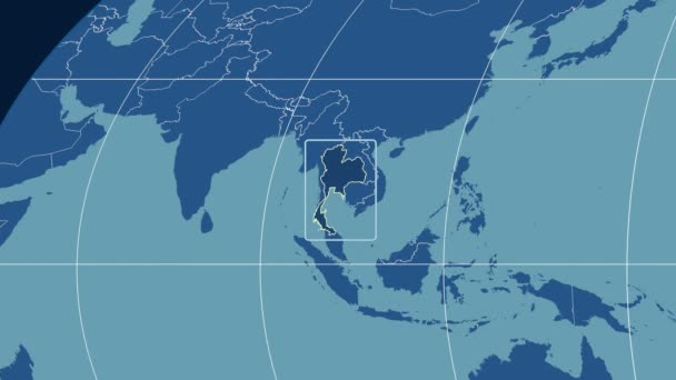 Thailand - 3D tube zoom (Mollweide projection). Solids