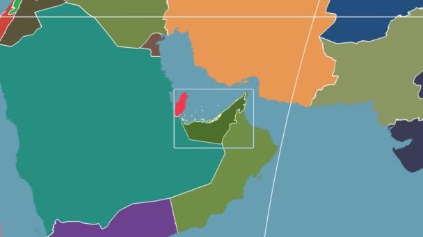 Spojené arabské emiráty - 3d trubice zoom (Kavrayskiy Vii projekce). Administrativní