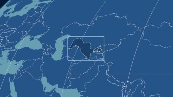 Uzbekistán - 3d trubice zoom (Kavrayskiy Vii projekce). Tuhé látky