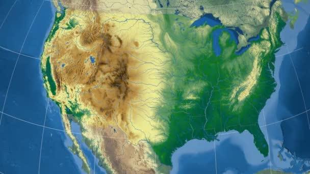 Arizona - Spojené státy, region extrudovaný. Hrboly stínované