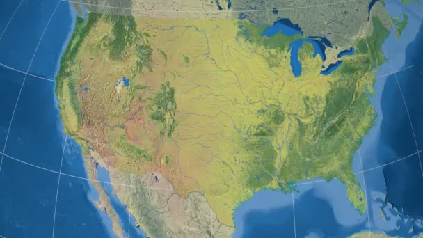 Colorado - United States, region extruded. Topography