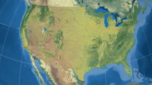 New Mexico - United States, region extruded. Topography