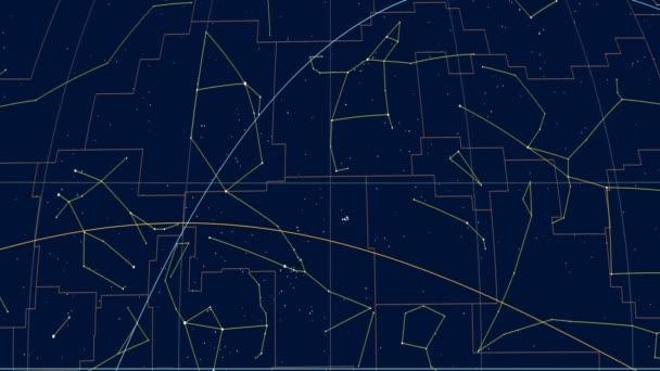 Zvětšená oblast severní polokoule mapy oblohy v projekce Kavrayskyi Vii