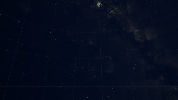 Constellation of Cetus. Galaxy space imagery