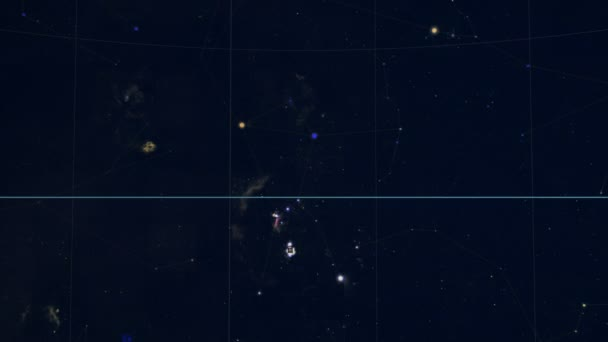 Constellation of Horologium. Galaxy space imagery