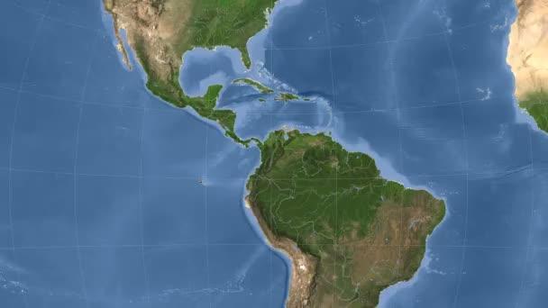Kolumbie popsány a zářil. Sousedství. Satelitní
