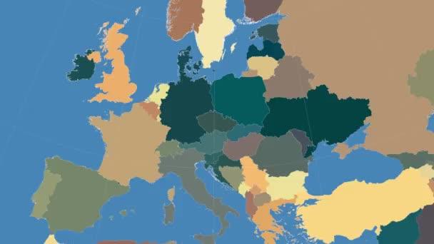 Česká republika nastínil a zářil. Sousedství. Administrativní