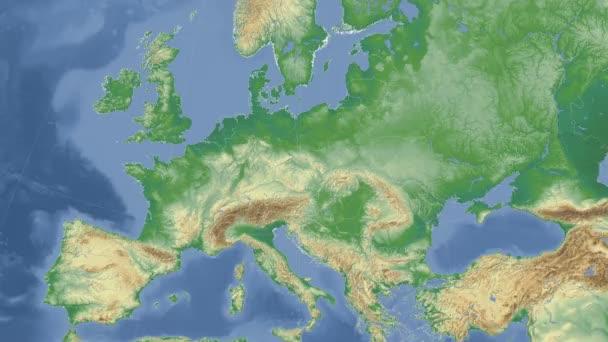 Česká republika nastínil a zářil. Sousedství. Fyzická