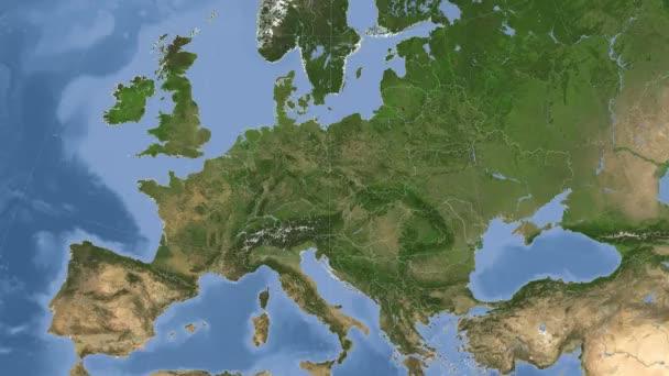Česká republika nastínil a zářil. Sousedství. Satelitní