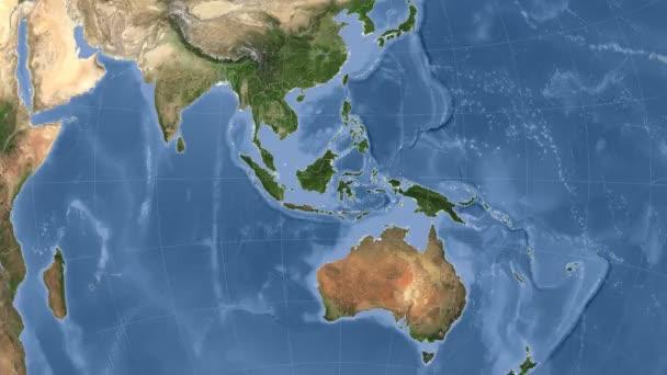 Indonésie popsány a zářil. Sousedství. Satelitní