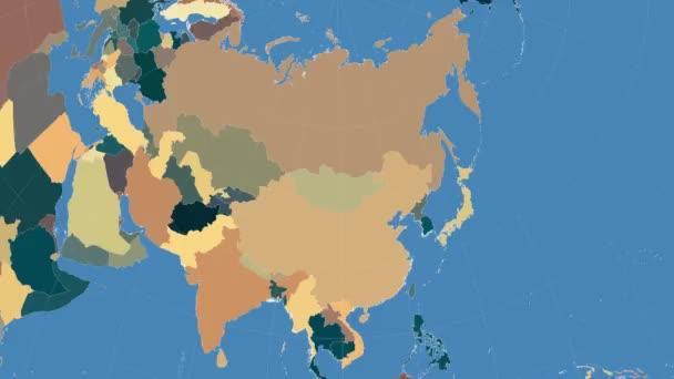 Mongolsko uvedeny a zářil. Sousedství. Administrativní