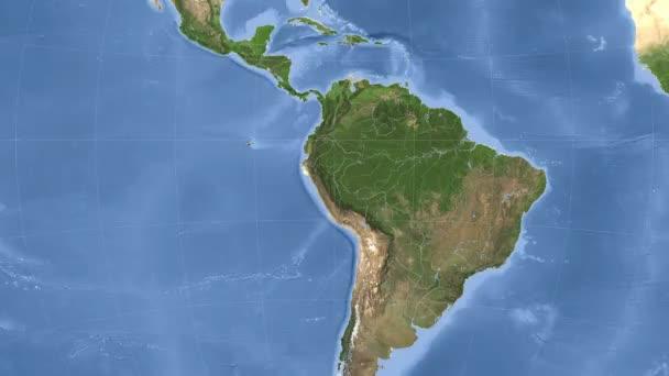 Peru popsány a zářil. Sousedství. Satelitní