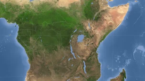 Rwanda popsány a zářil. Sousedství. Satelitní