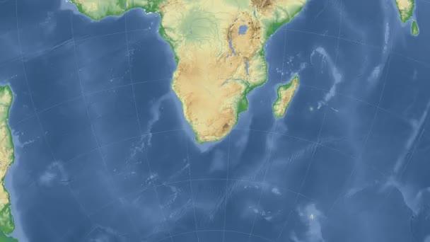 Jižní Afrika nastínil a zářil. Sousedství. Fyzická