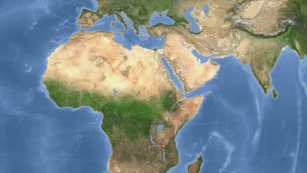Súdán popsány a zářil. Sousedství. Satelitní