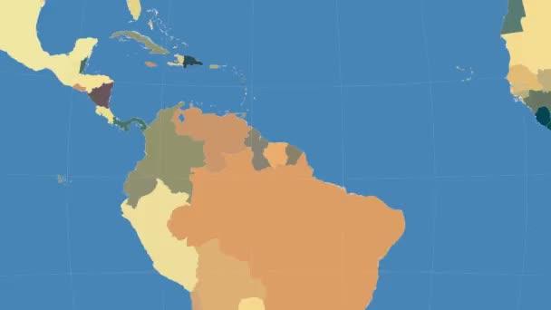 Surinam popsány a zářil. Sousedství. Administrativní