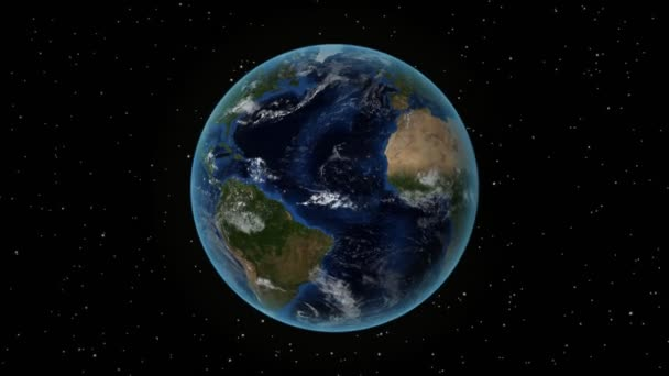 Haiti. 3D Earth in space - zoom in on Haiti outlined. Star sky background