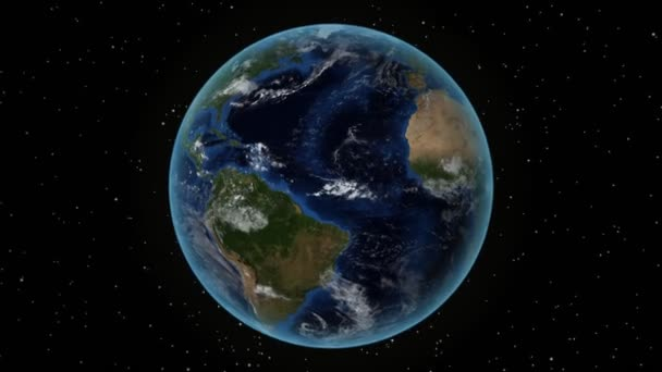 Honduras. 3D Earth in space - zoom in on Honduras outlined. Star sky background